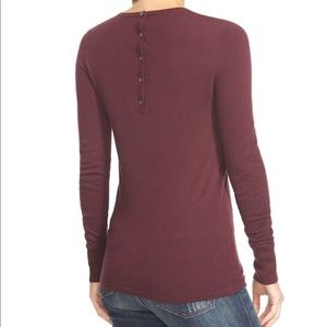 Halogen Button Back Crewneck Sweater